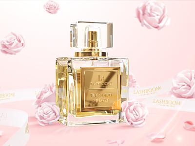 LashBoom! Perfumes piotr freelance commercial social media advertising 3d art cinema 4d after effect illustration design art direction cinema4d 3d c4d octane