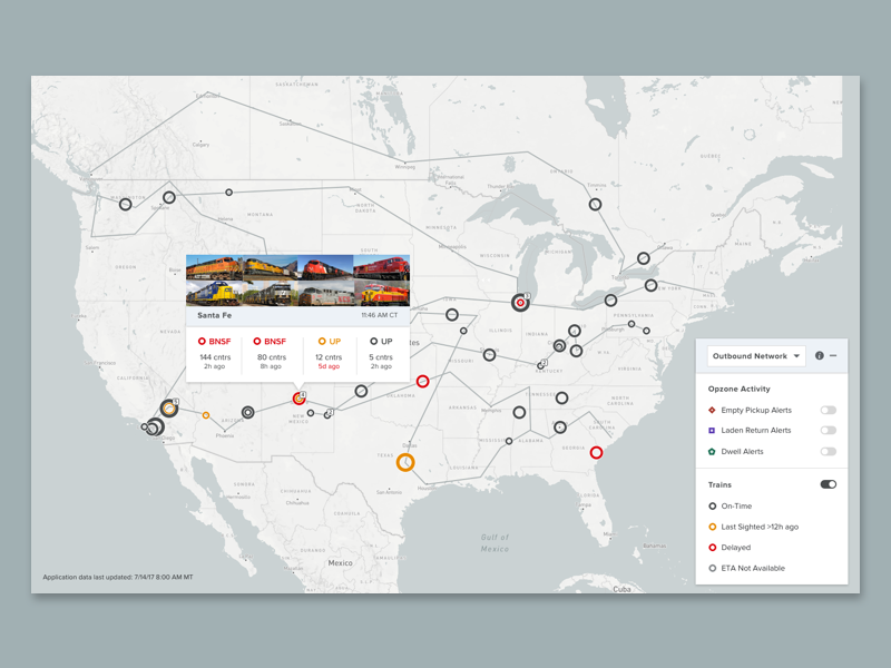 Train Logistics Map by Michelle Kang on Dribbble