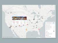Train Logistics Map