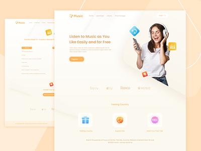 Music Website music player business branding company profile ui ux music app homepage webdesign website landingpage music