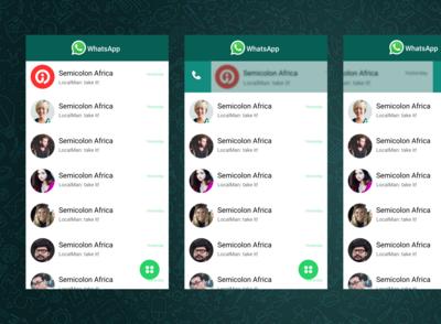 WhatsApp Redesign Version 2