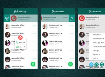 WhatsApp Redesign Version 4
