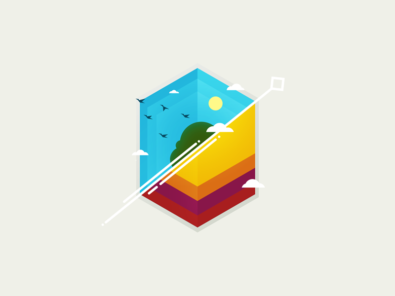 4am illustration electro music cover birds hexagon dash minimal
