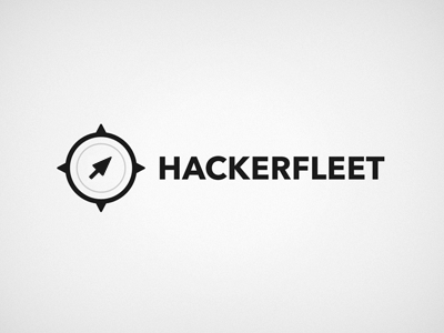 Hackerfleet Minimal 01 mouse cursor compass logo
