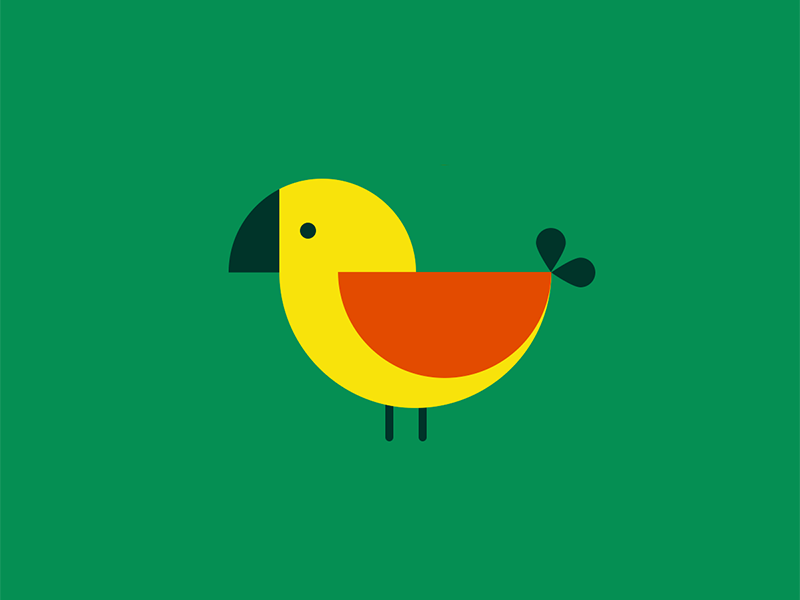 Bird3 bird circles geometric illustration minimal retro