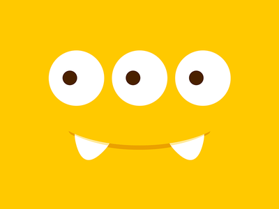 Friendly Monster (I) logo illustration mouth identity monster eyes