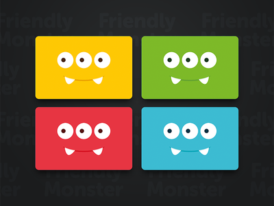 Friendly Monster business cards.