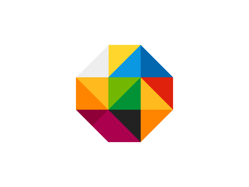 MyGestunary branding process 01 palette triangles color colour branding design