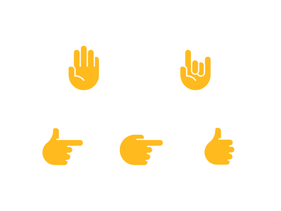 MyGestunary Visual Language Exploration (II) vector flat gestures illustration icon hands minimal design