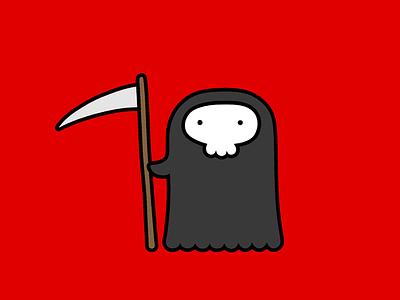 Der Kleine Tod skull death character design illustration design