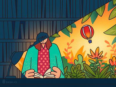 Library fantasy fantasy art design illustration