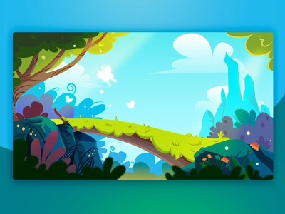 Forest background background forest art design illustration