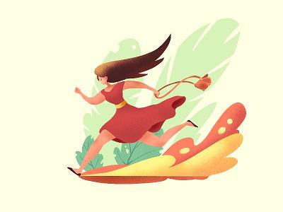 Every morning girl cartoon design art illustration