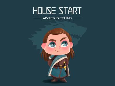 Arya Stark arya girl game of thrones design art illustration