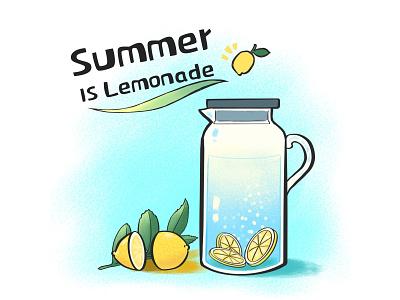Summer is lemonade! summer cool design art illustration