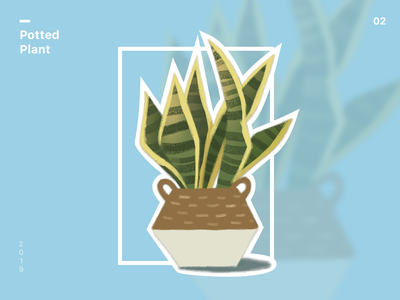 Potted plant plant art design illustration