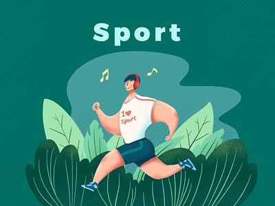 Run! boy design art illustration