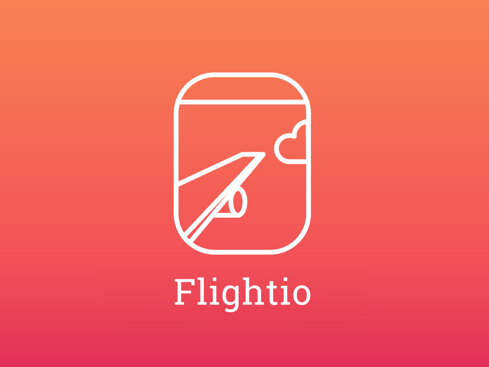 Flightio Logo Proposal logo design branding flightio booking travel agancy logo design logo
