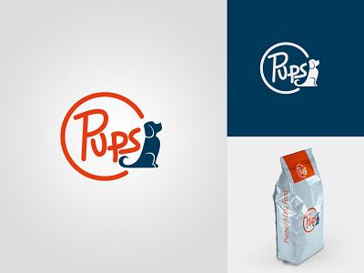 PUPS - Thirty Logos Challenge #15 vector lettering typography logo illustrator illustration identity icon design branding