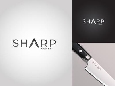 Sharp Knives - Logo Challenge #16 type lettering vector logo illustrator illustration identity icon design branding