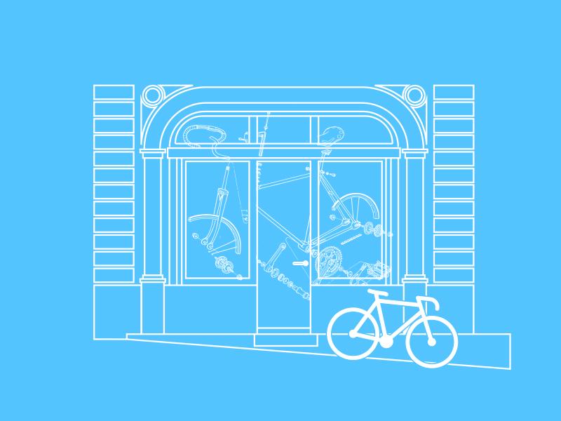 Lausanne bicycle shop