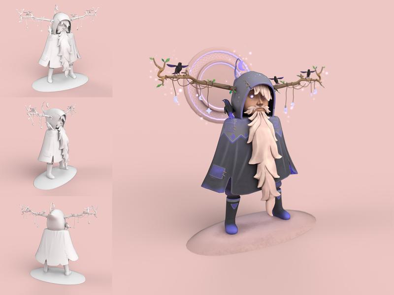 Odin blender modeling stylized sculpt design props substance texture 3dart 3d game illustration