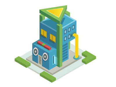 Isometric Play Buildings  game fun house building isometric