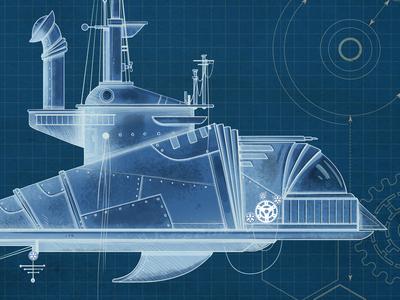 Submarine blue print