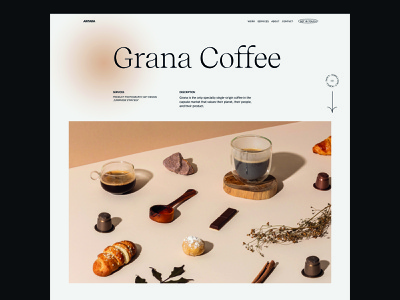 Antara Studio - 01 studio clean typography minimal webgl responsive design coffee type ux web ui