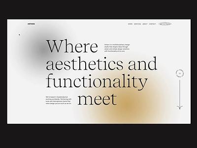 Antara Studio - 03 ui ux web design clean typogaphy webgl studio minimal