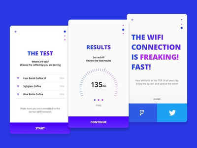 Cofffi App coffee connection test stats ping app wifi