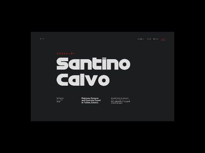 Santino Calvo — 01 type design web ui portfolio