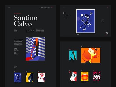 Santino Calvo — 02 web illustration portfolio ui website type