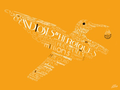 Lettering poster water bird burning typography art font typography workshop quote illustration colibri lettering colorful
