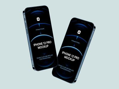 Free iPhone 12 Pro Mockup aplication mockup iphone 12 mockup freebie screen iphone iphone 12 free