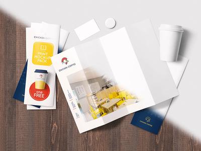 Print Mockup Pack - Free & Premium image showcase psd graphic free book magazine brand coffee broshure mockup print