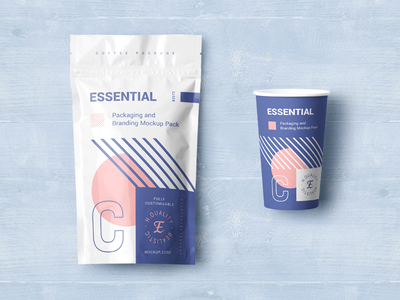 Packaging Design for New Mockup Project paper cup cup coffee free mockups mockup package design