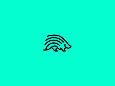 Porcupine Line Art Logo creative logo logo design logo branding minimal logo minimalist logo porcupine animal logo