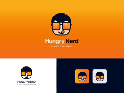 Hungry Nerd Food App Logo food logo design food and drink food delivery food app nerd logo design nerd nerd food logo nerd logo food app logo food logo cute art cute logo creative logo vector logo branding
