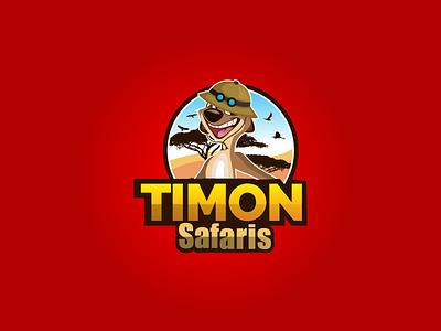 Timon Safari Tour Logo Design safari tanzania logo safari timon logo timon mascot logo timon lion king logo timon logo safari tour logo safari logo