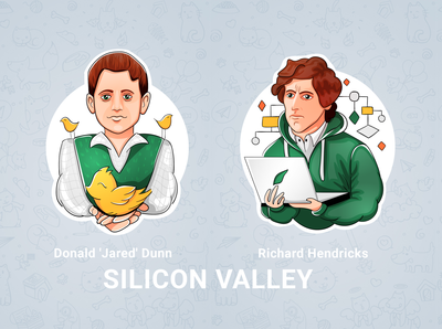 Silicon Valley fanart stikers
