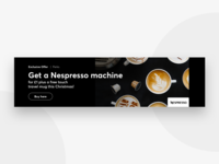 Coffee banner ad promo