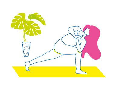 Yoga yoga vector illustration