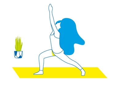 Yoga yoga illustration vector