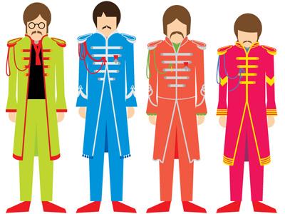 Beatles vector beatles sgt pepper