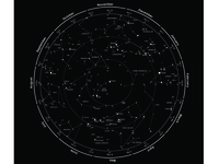 Custom space & time sky map