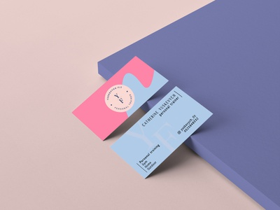 Creating a logo and business card. flat icon colors business card web work branding vector typography design logo