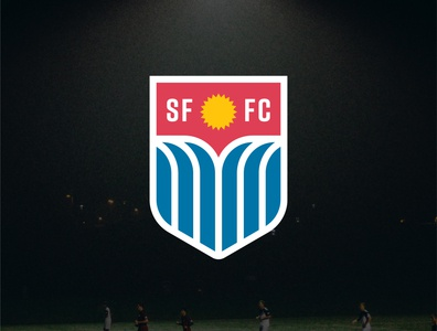 Sioux Falls FC team football soccer sports waterfalls waterfall water crest sun flag identity south dakota branding vector design illustration icon logo