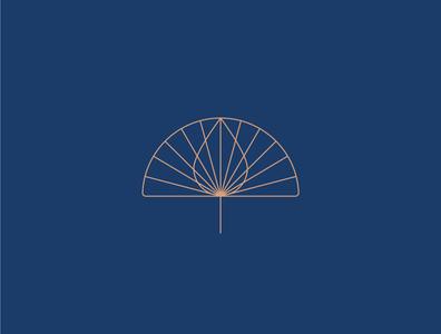 Parasol 3 rain droplet drop horizon sunrise sunshine canopy parasol umbrella identity branding vector design illustration icon logo