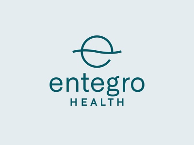Entegro medicine probiotics stomach e health gut balance line identity branding vector design illustration icon logo